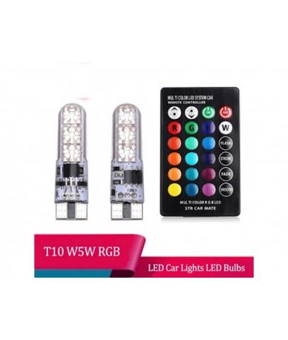 LED Far - 6 Renkte Yanan Uzaktan Kumandalı Led Ampul (2 Adet)