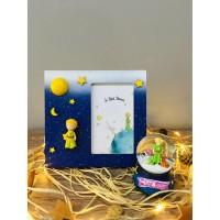 Little Prince Ahşap Çerçeve& Little Prince Işıklı Kar Küresi Seti