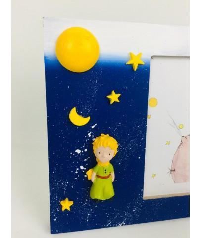 Çerçeve - Little Prince Çerçeve ve Little Prince Işıklı Kar Küresi Seti Yılbaşı Hediyesi,Doğumgünü Hediyesi