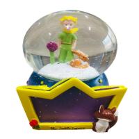 Little Prince Çerçeveli Büyük Boy Otomatik Kar Püskürten Kar Küresi,Müzik Kutusu