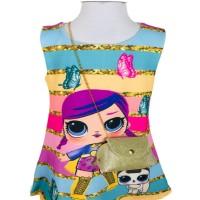 LOL Bebek Figürlü Çantalı Jile Elbise