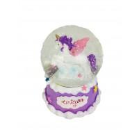 Mini Unicorn Midi Boy Işıklı Kar Küresi