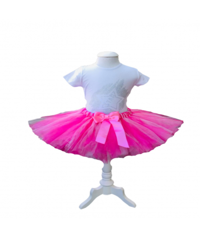 Elbise & Jile - Prenses Pembe Kabarık Tütülü Takım(Taç Hediyeli)