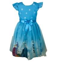 Pumpido Kids Mavi ELSA Kız Çocukları İçin Elbise