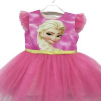 Pumpido Kids Elsa Maskeli Tüllü Kız Çocuk Elbise