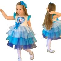 Pumpido Kids Elsa Pullu Tüllü Elbise