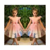 Pumpido Kids Pembe ELSA Kız Çocukları İçin Elbise