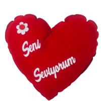 Seni Seviyorum Kalp Yastık - 36 cm