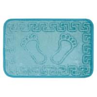 VELDANA Kaydırmazlı Ayak İzi desenli Banyo Paspası -