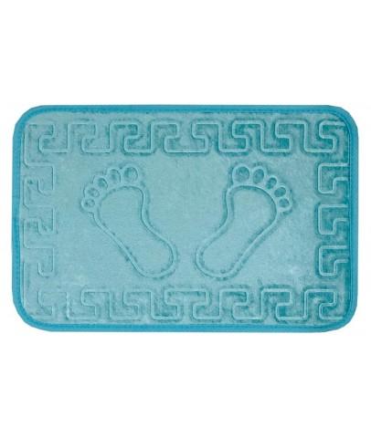 Banyo Halısı & Paspas - VELDANA Kaydırmazlı Ayak İzi desenli Banyo Paspası -