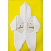 Yelekli Ayıcık Welsoft Pamuklu Bebek Tulumu